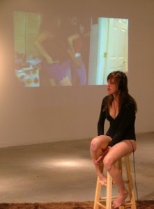 Image from Headphones performance by Jessica Borusky